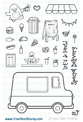 Your Next Stamp- Waddles - Food Truck Fun