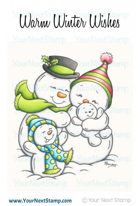 *XMAS* Your Next Stamp- Snowman Family
