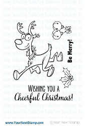 *CS* Your Next Stamp- Happy as a Reindeer