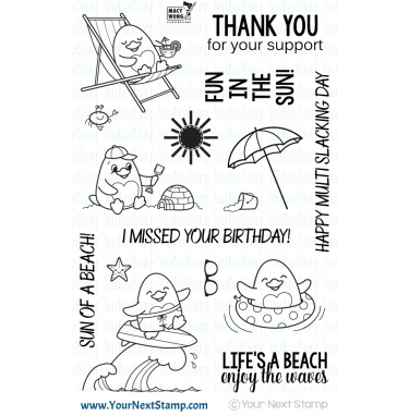 Your Next Stamp- Waddles - Beach Fun