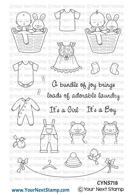 Your Next Stamp - Baby Clothes Line