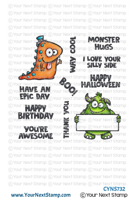 *NEW* - Your Next Stamp - Way Cool Monsters