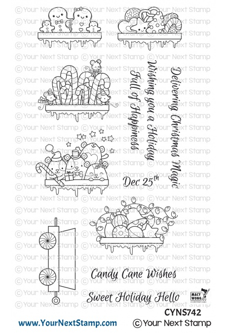 *NEW* - Your Next Stamp - Santa Express Train Carts Two