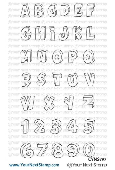 *NEW* - Your Next Stamp - 3D Letters and Numbers