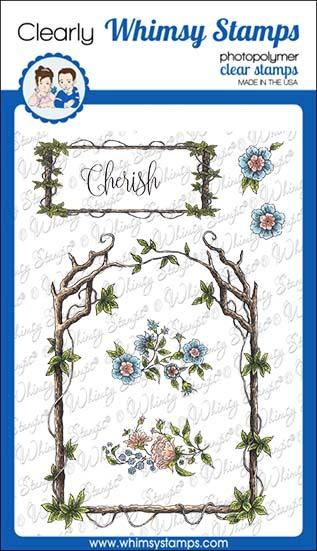*NEW* - Whimsy Stamps - Elegant Wood Frames Clear Stamps