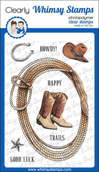 *NEW* - Whimsy Stamps - Cowpoke Clear Stamps