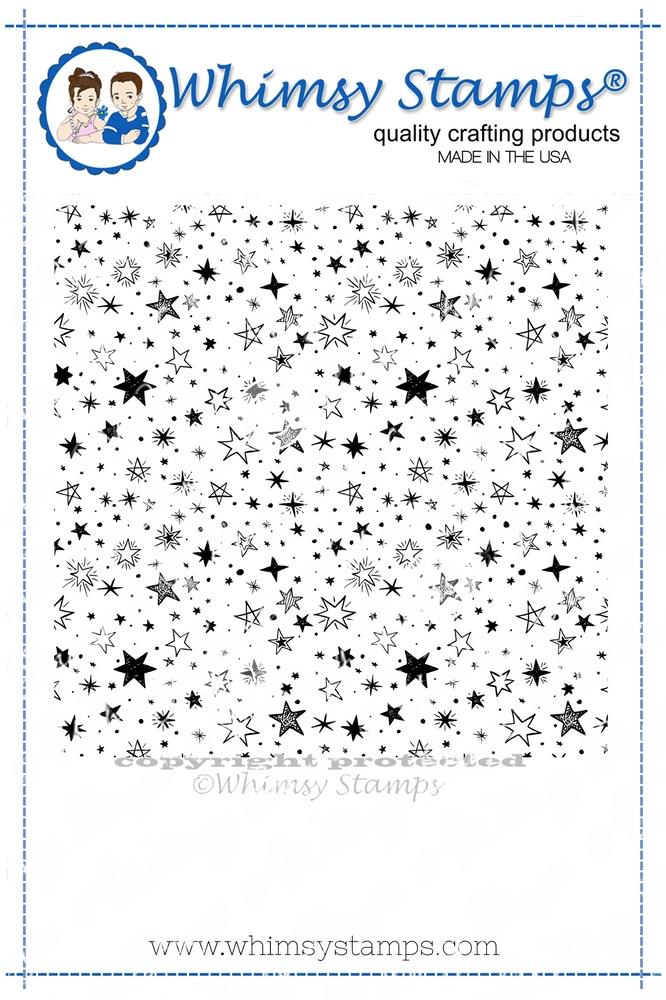 *NEW* - Whimsy Stamps - Galaxy Galore Background Rubber Cling Stamp