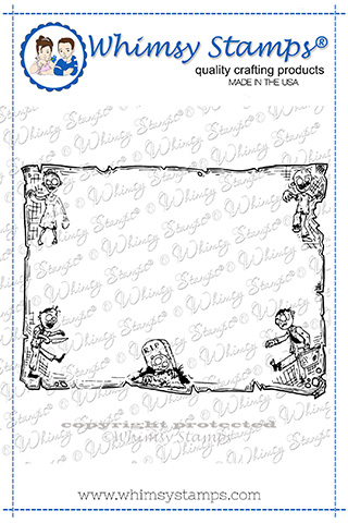 Whimsy Stamps - Zombie Frame Rubber Cling Stamp