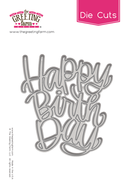 *NEW* -  The Greeting Farm - Happy Birthday - Word Die Cuts