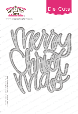 *NEW* -  The Greeting Farm - Merry Christmas - Word Die Cut