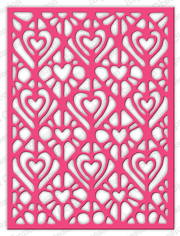 ####Impression Obsession - Lacy Hearts
