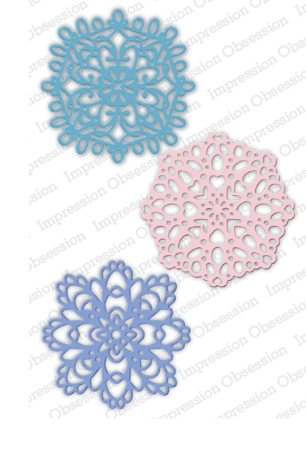*NEW* - Impression Obsession - Winter Doilies