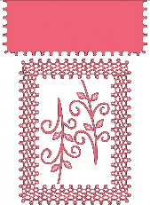 *NSCS*Japenese Lace & Flourish Frame w/ Angel Wing