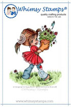 ###Whimsy Stamps - Milly Little Spring Helper - Elisabeth Bell