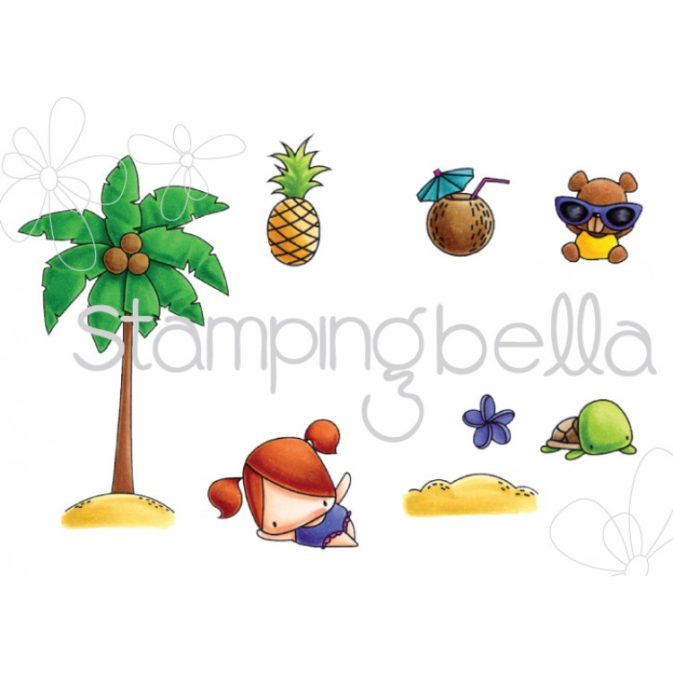 Stamping Bella - The Littles Palm Tree set