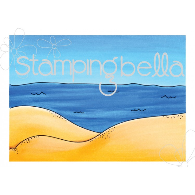Stamping Bella - Beach backdrop