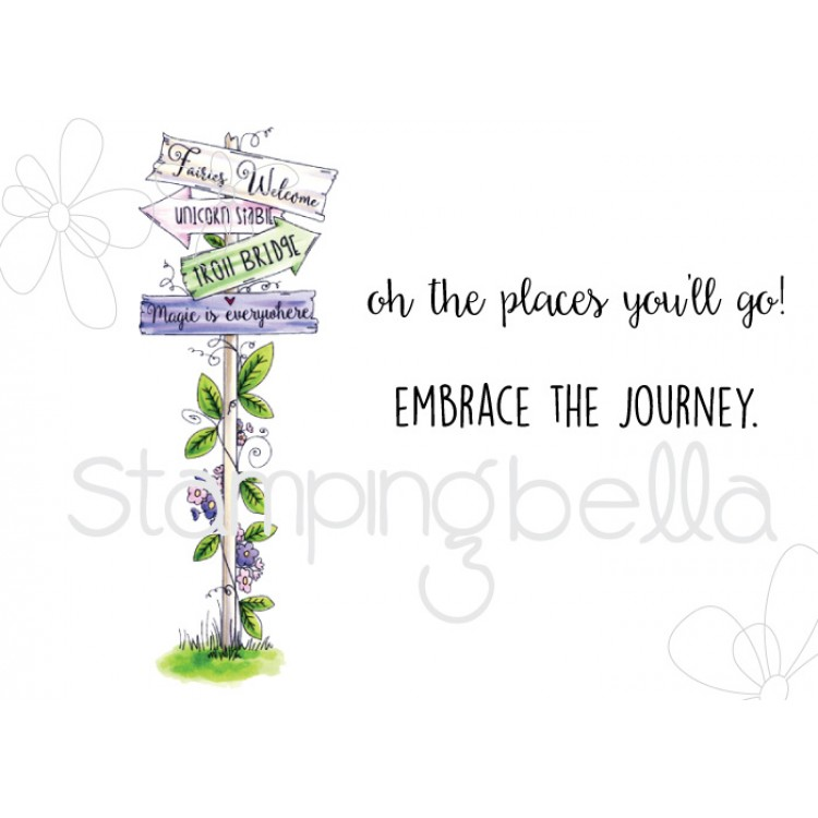 Stamping Bella - Tiny Townie fairy garden sign