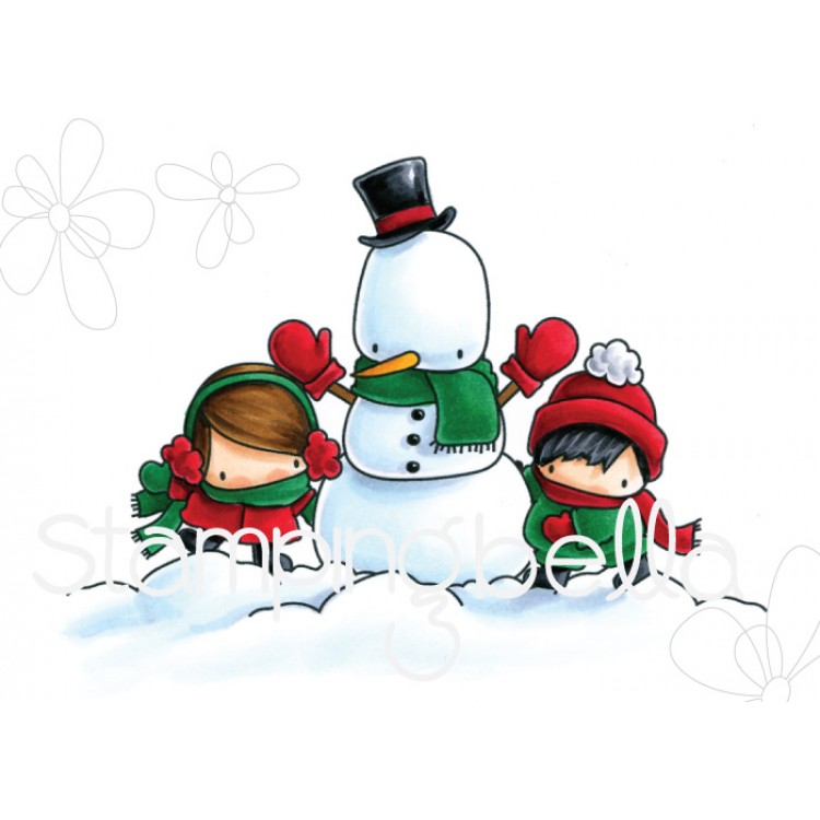 *XMAS* Stamping Bella - LITTLES WINTER COLLECTION : SNOWMAN LOVE