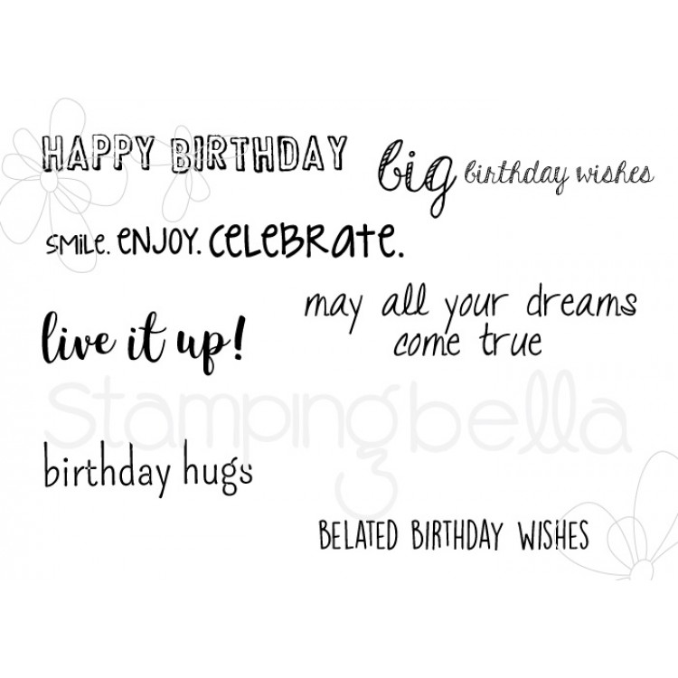 *PRE-ORDER - Stamping Bella - Birthday sentiment set