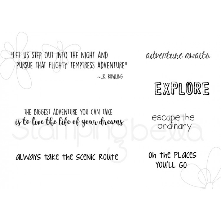 *PRE-ORDER - Stamping Bella - Adventure sentiment set
