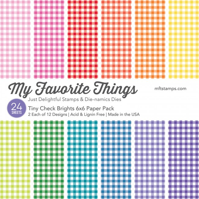 My Favorite Things - Tiny Check Brights 6 x 6 Paper Pack