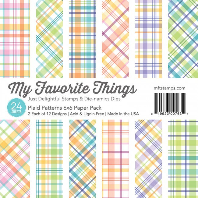 My Favorite Things - Plaid Patterns 6 x 6 Paper Pack