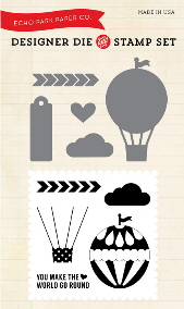 Echo Park - Hot Air Balloon Die & Stamp Combo