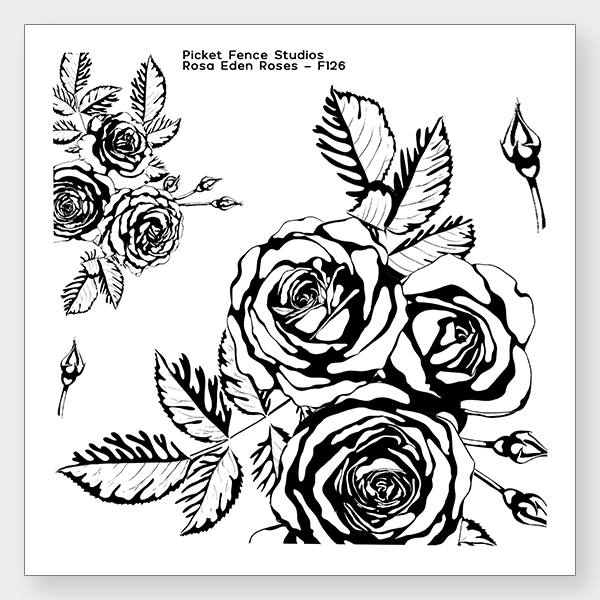 *NEW* - Picket Fence Studios - Rosa Eden Roses