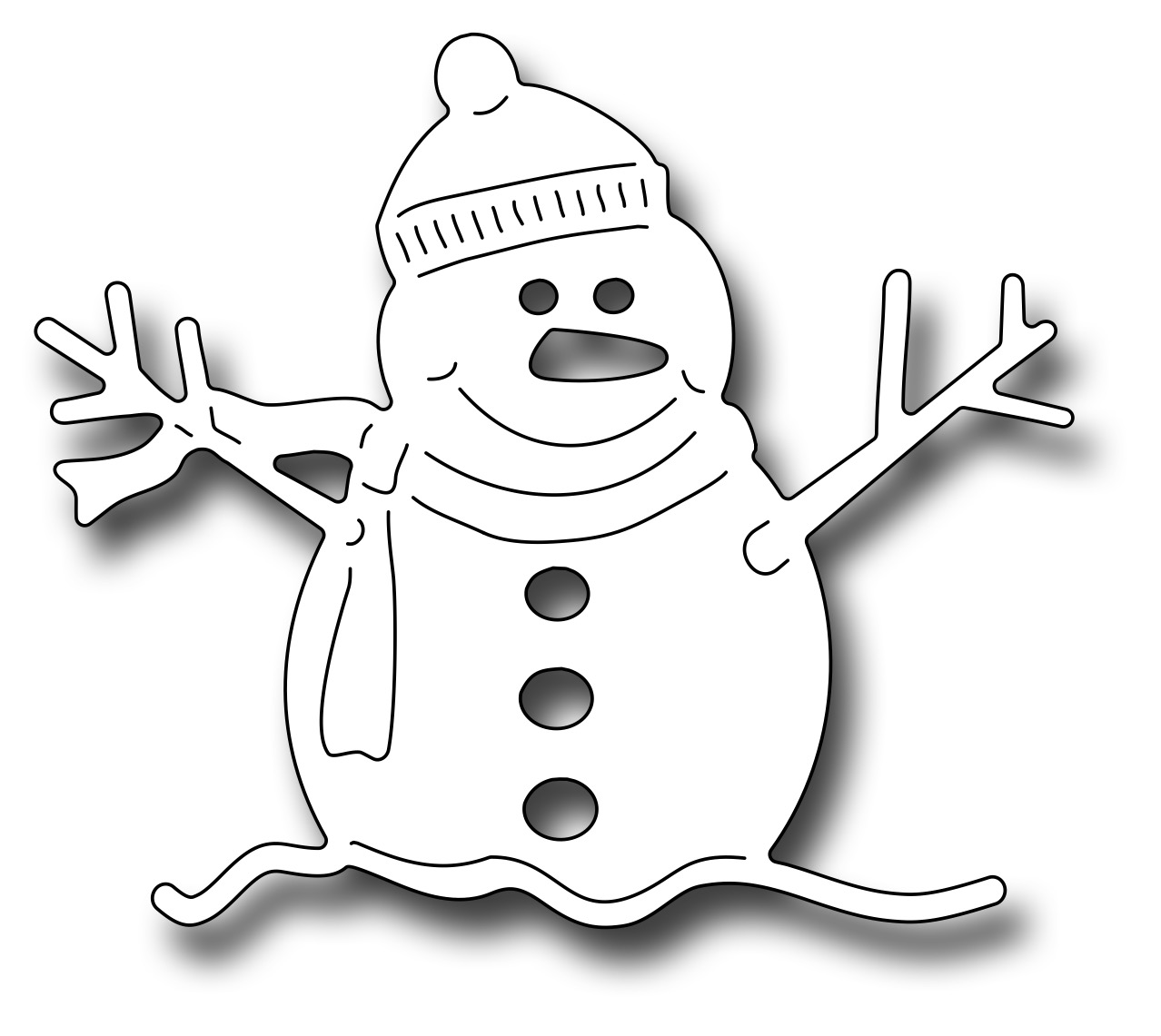 *NEW* - Frantic Stamper - Precision Die - Oliver The Snowman