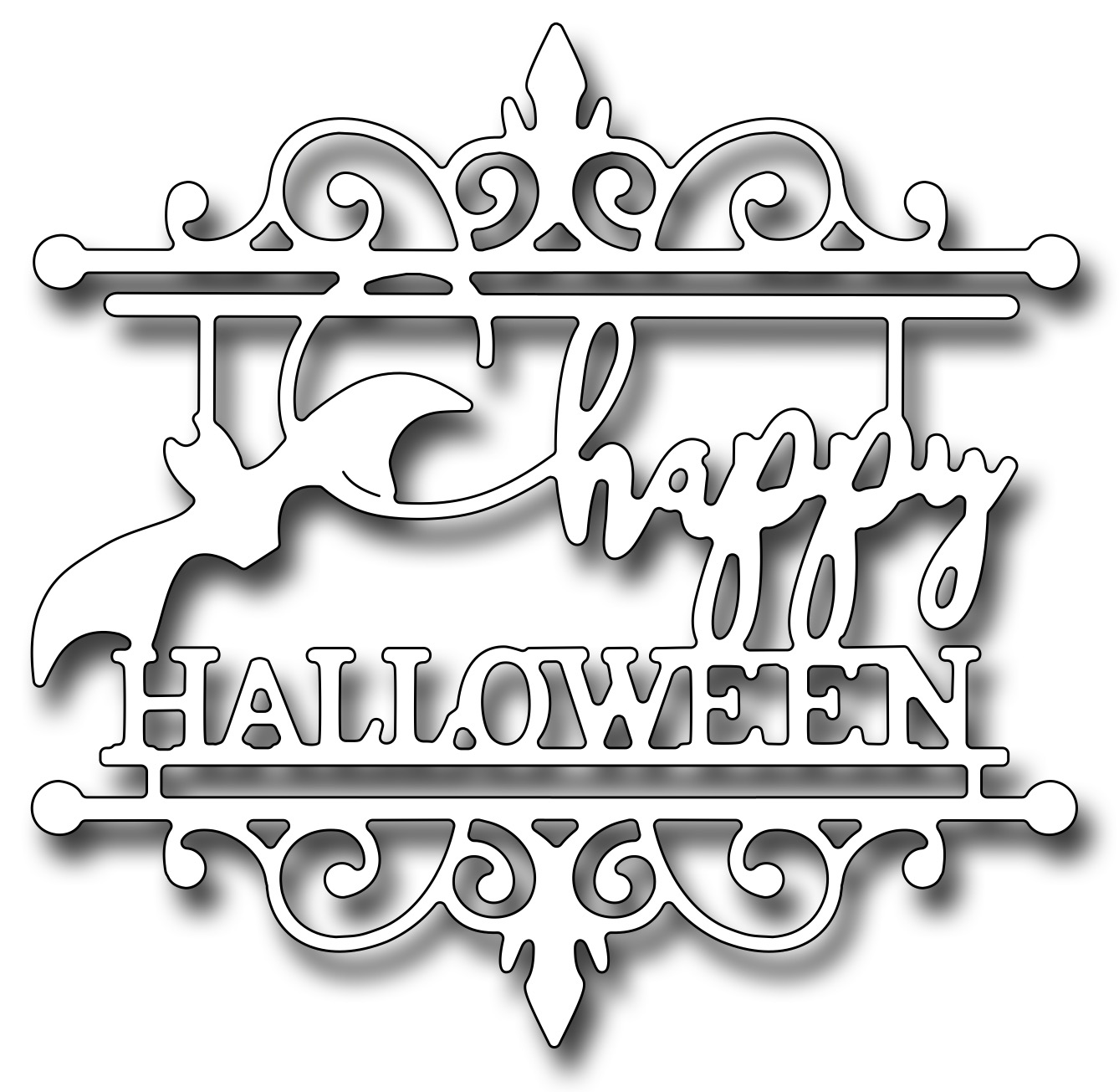 *NEW* - Frantic Stamper - Precision Die - Happy Halloween Medallion