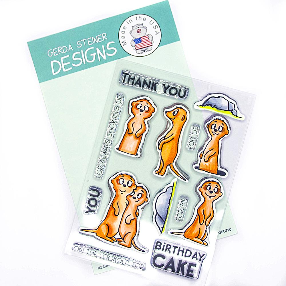 *NEW* - Gerda Steiner - Meerkats on the Lookout! 4x6 Clear Stamp Set
