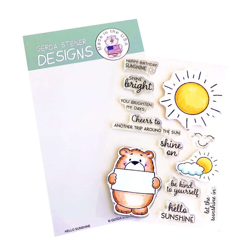 *NEW* - Gerda Steiner - Hello Sunshine 4x6 Clear Stamp Set