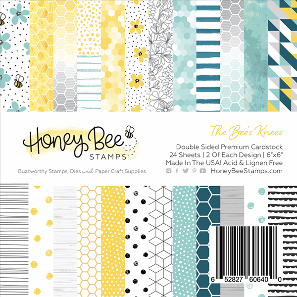 Honey Bee - The Bee's Knees | 6x6 Paper Pad | 24 Double Sided Sheets