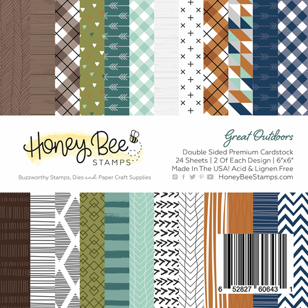 Honey Bee - Great Outdoors | 6x6 Paper Pad | 24 Double Sided Sheets