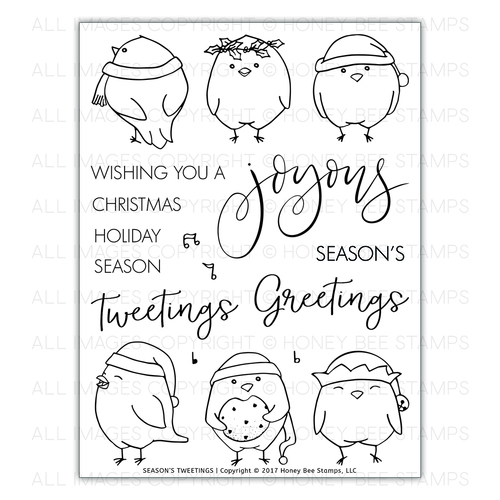 Honey Bee Stamps - Seasons Tweetings | 6x8 Stamp Set