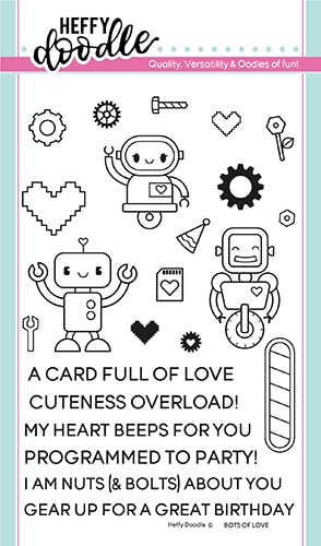 Heffy Doodle - Bots of Love Stamps