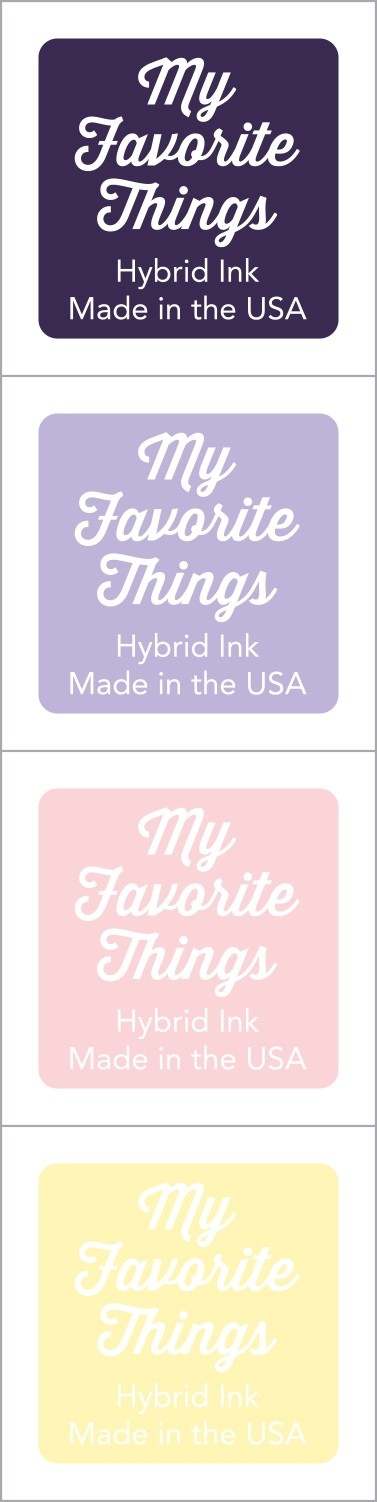 My Favorite Things - Hybrid Ink Cubes - Set 14