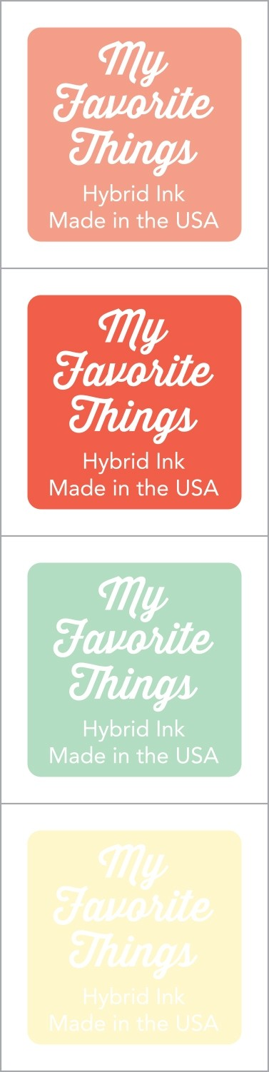 My Favorite Things - Hybrid Ink Cubes - Set 16