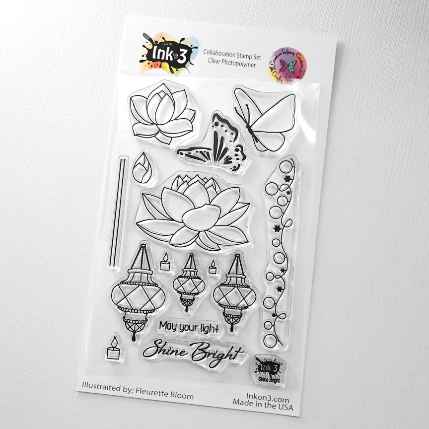 *NEW* - Ink On 3 - Shine Bright 4x6 Clear Stamp Set