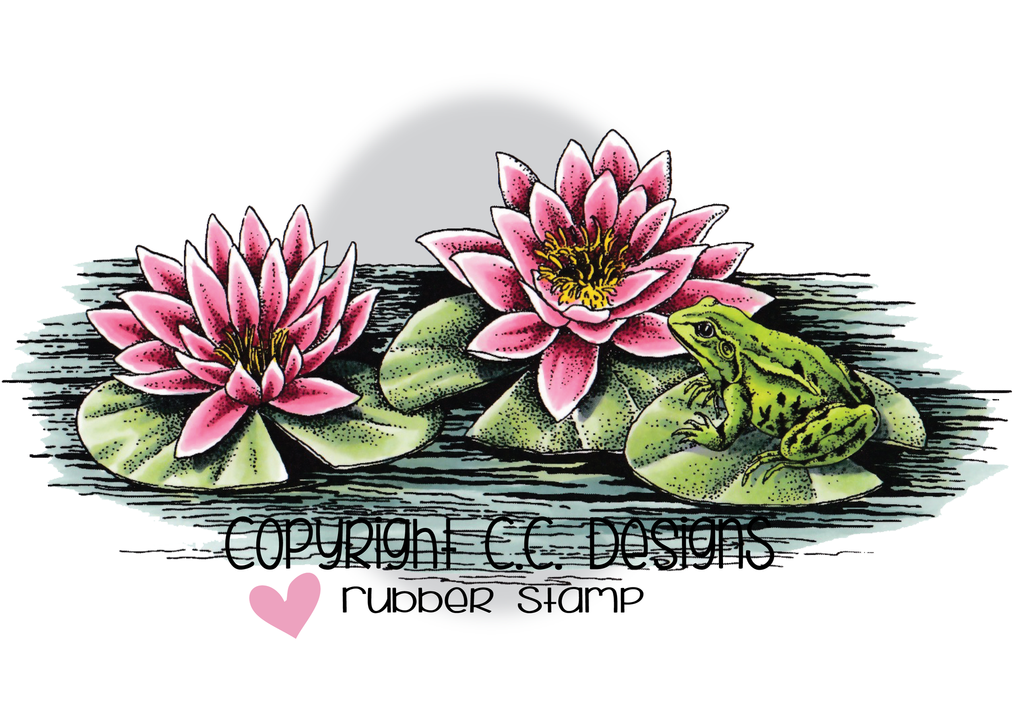 *NEW* - CC Designs - DoveArt Studios Lily Pad Rubber Stamp