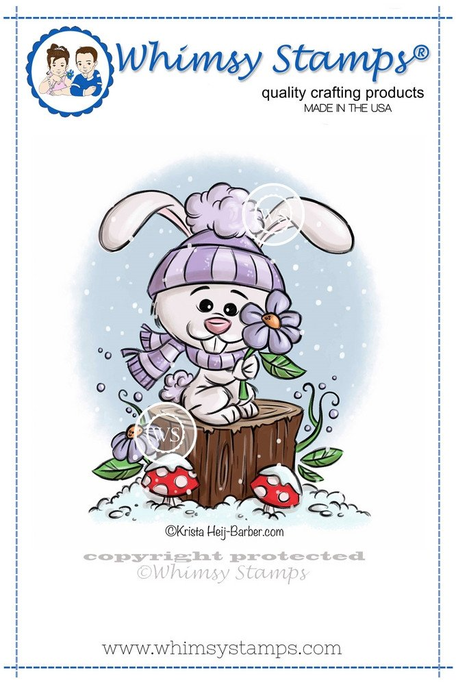 Whimsy Stamps - Winter Bunny - Krista Heij-Barber