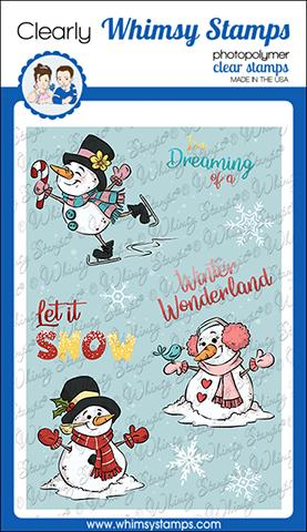 Whimsy Stamps - Winter Wonderland Snowmen Clear Stamps
