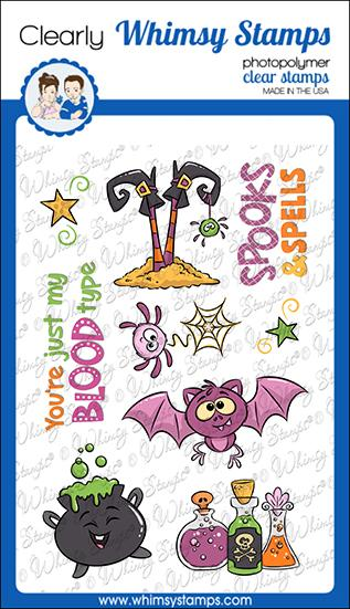 *NEW* - Whimsy Stamps - Spooks and Spells Clear Stamps