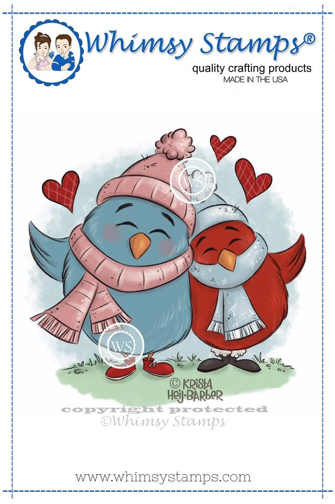 Whimsy Stamps - Winter Birdy Love