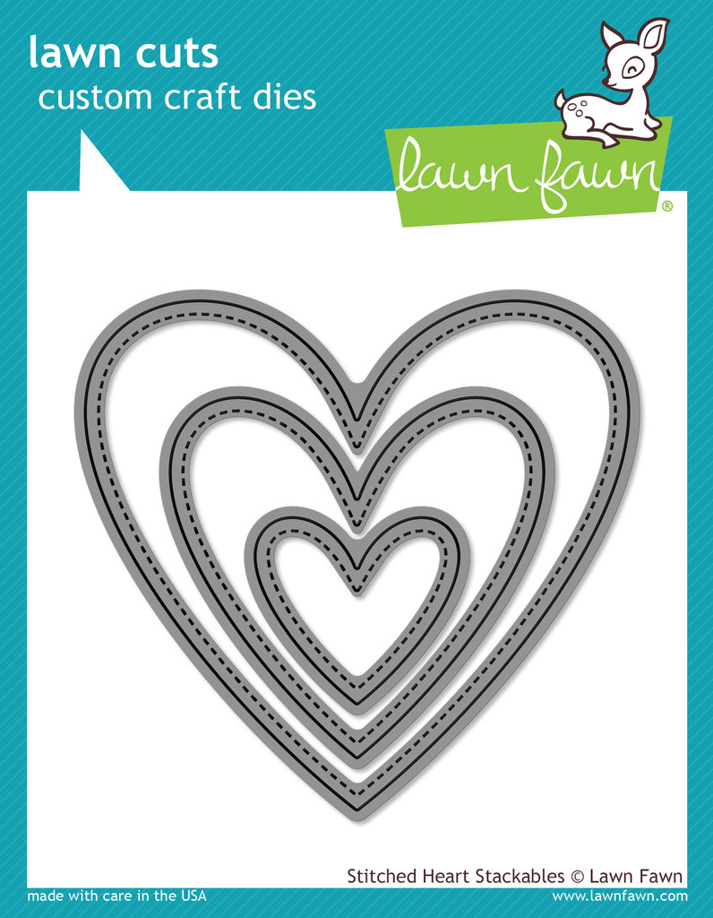 Lawn Fawn- Lawn Cuts - Stitched Heart Stackables D