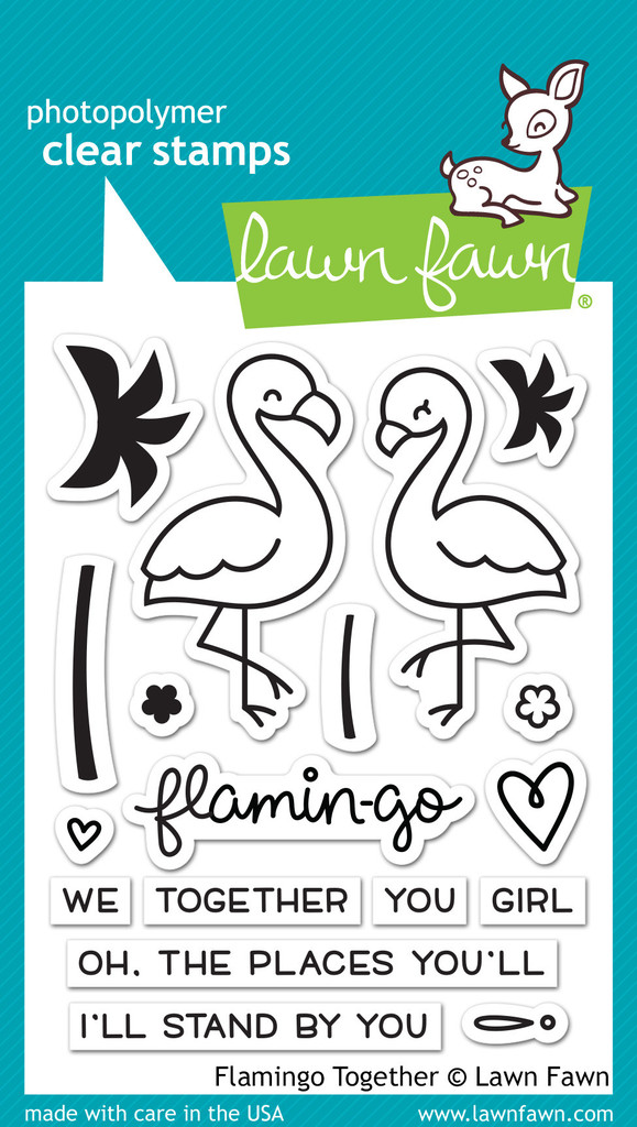 Lawn Fawn- Stamps - Flamingo Together