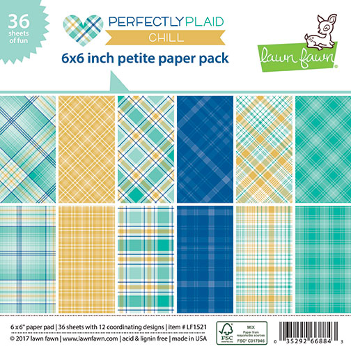 Lawn Fawn - perfectly plaid chill petite paper pack