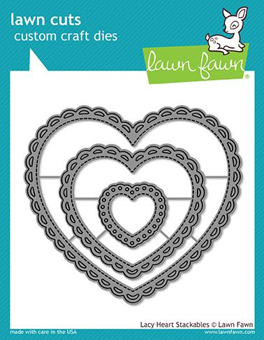 Lawn Fawn - lacy heart stackables