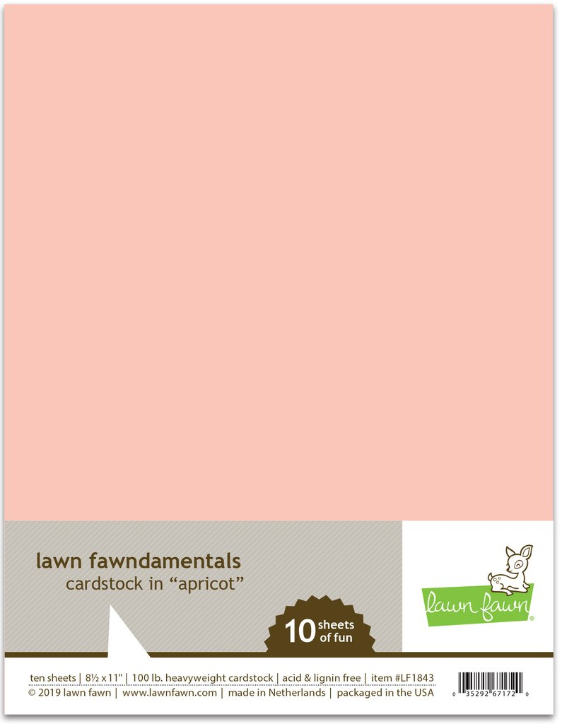 Lawn Fawn - apricot cardstock