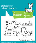 Lawn Fawn- Stamps - Fly Free WITH MATCHING DIE